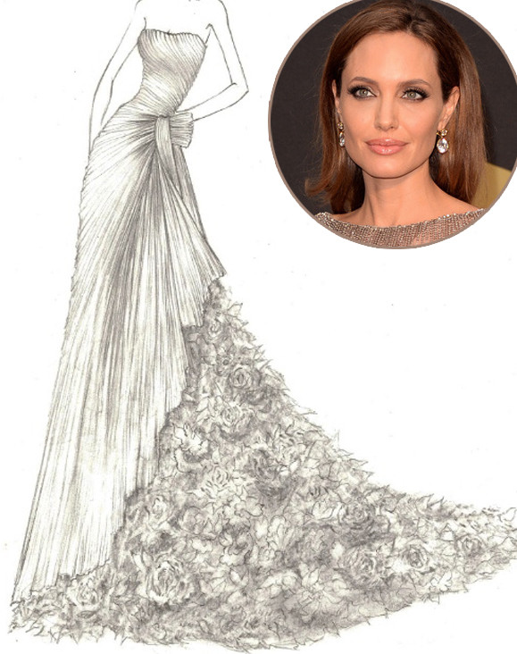 Angelina Jolie, Yumi, Katsura, Wedding Dress