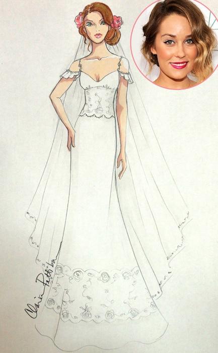 Lauren Conrad, Claire Pettibone, Wedding Dress