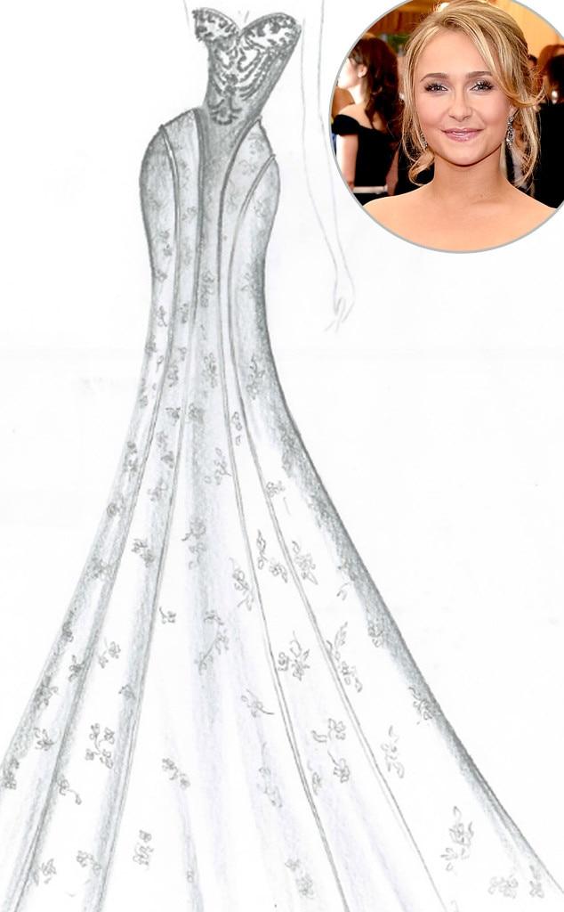 news exclusive designers share their dream wedding dress sketches celeb brides lauren conrad amber h
