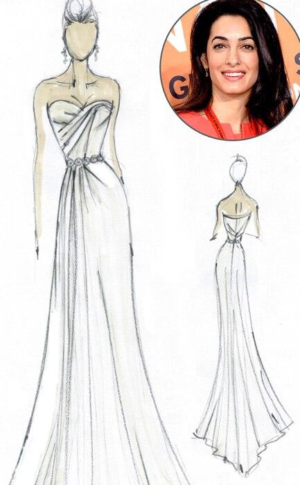 Amal Alamuddin, Jean Ralph Thurin, Wedding Dress