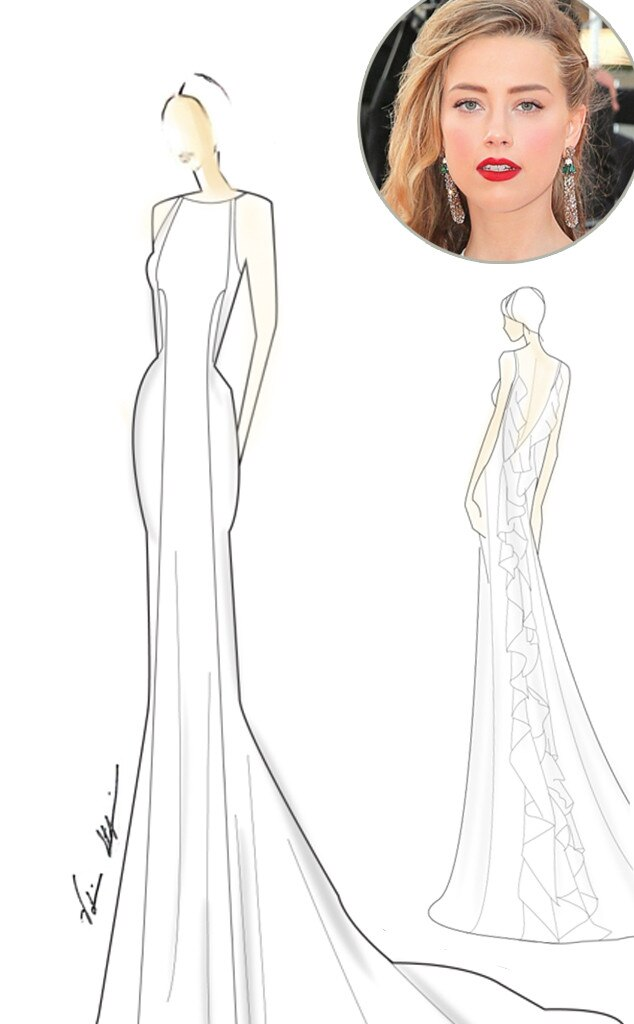 Amber Heard, Val Stefani, Wedding Dress