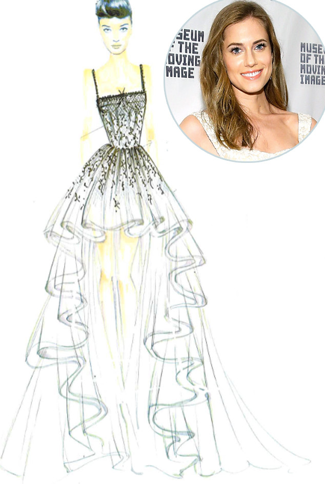 Allison Williams, Gemy Maalouf, Wedding Dress
