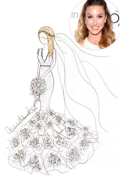 Whitney Port, Winnie Couture, Wedding Dress