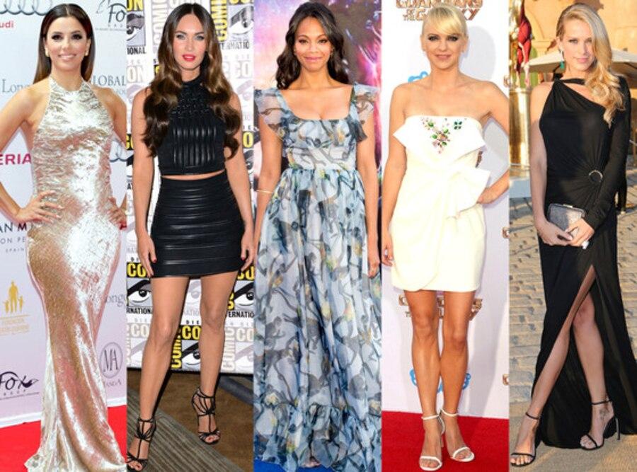 Megan Fox, Zoe Saldana, Eva Longoria, Anna Faris, Petra Nemcova