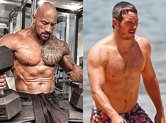 The Rock, Chris Pratt, Best of Summer Hottest Bods