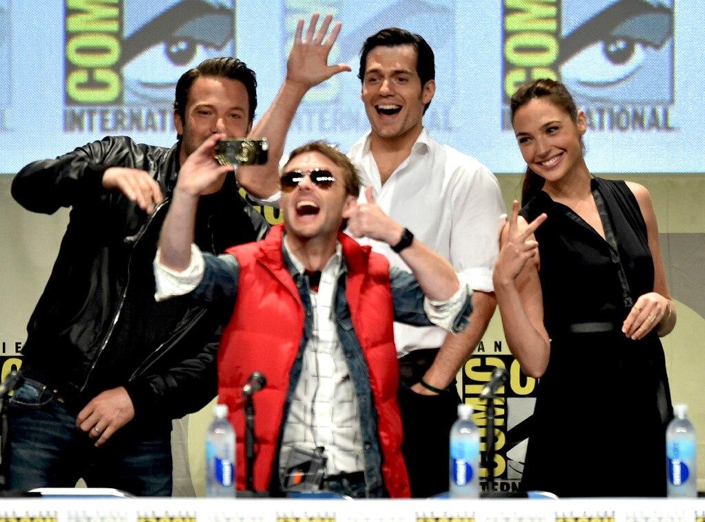 Chris Hardwick, Ben Affleck, Henry Cavill, Gal Gadot, Comic-Con