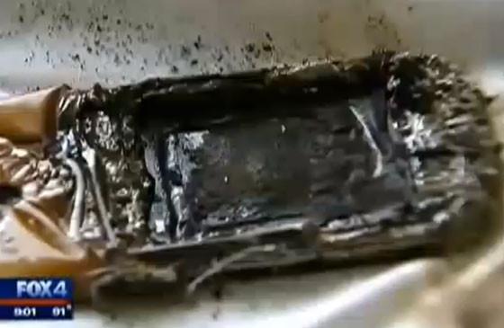 Burnt Cell Phone, Samsung