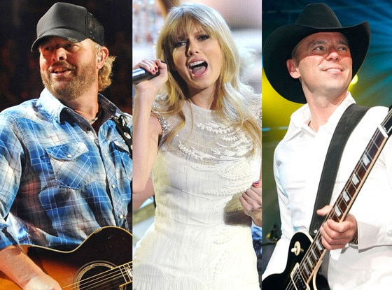 Toby Keith, Taylor Swift, Kenny Chesney