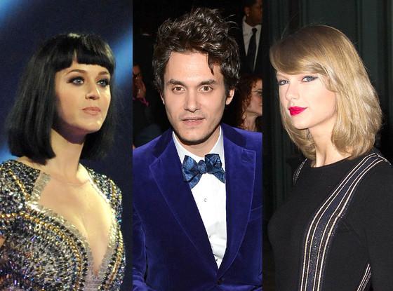 Katy Perry, John Mayer, Taylor Swift