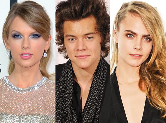 Taylor Swift, Harry Styles, Cara Delevingne