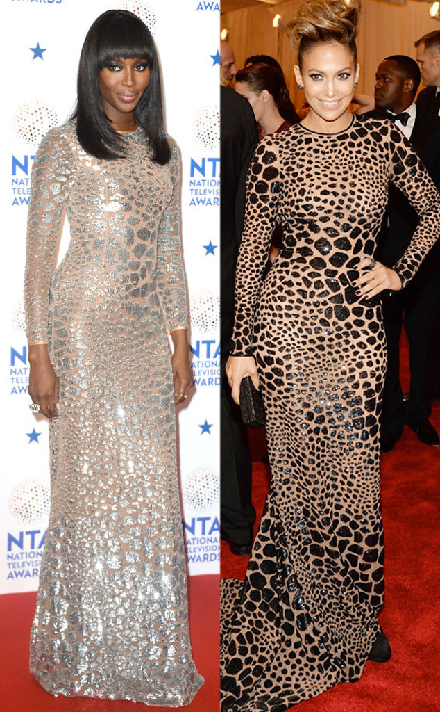 Piper perabos unique silver wedding dress and gold veilall the naomi campbell jennifer lopez junglespirit Choice Image