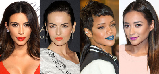 National Lipstick Day, Kim Kardashian, Camilla Belle, Rihanna, Shay Mitchell