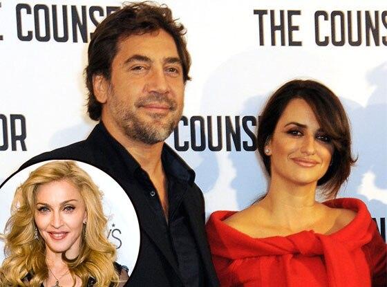 Javier Bardem, Penelope Cruz, Madonna