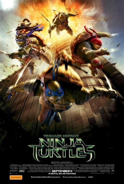 Teenage Mutant Ninja Turtles Poster Australia