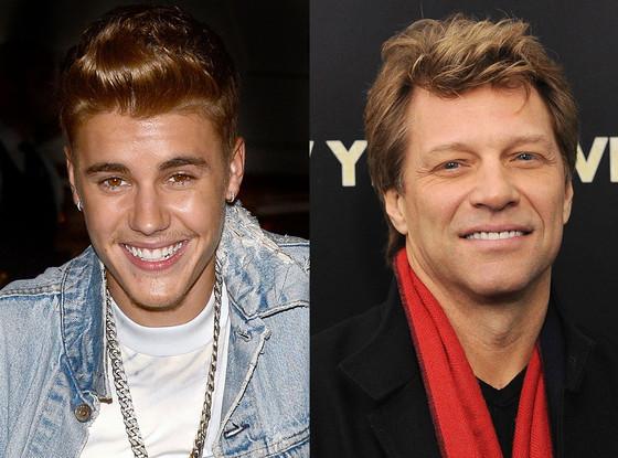 Justin Bieber, Jon Bon Jovi