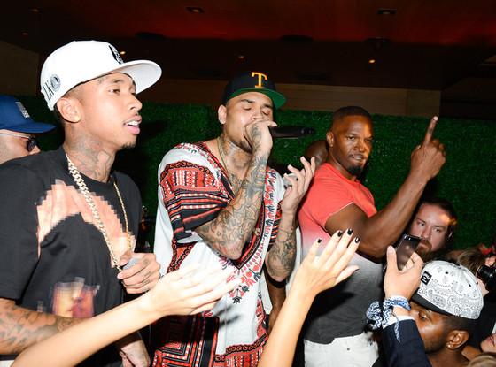 Chris Brown, Tyga, Jamie Foxx