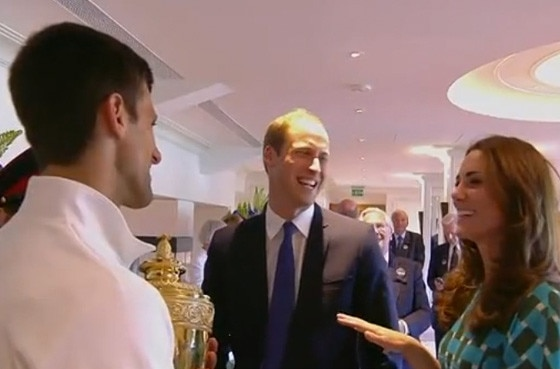 Prince William, Duchess Catherine, Novak Djokovic, Wimbledon