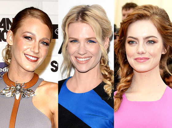 January Jones, Emma Stone, Blake Lively, Glam Squad