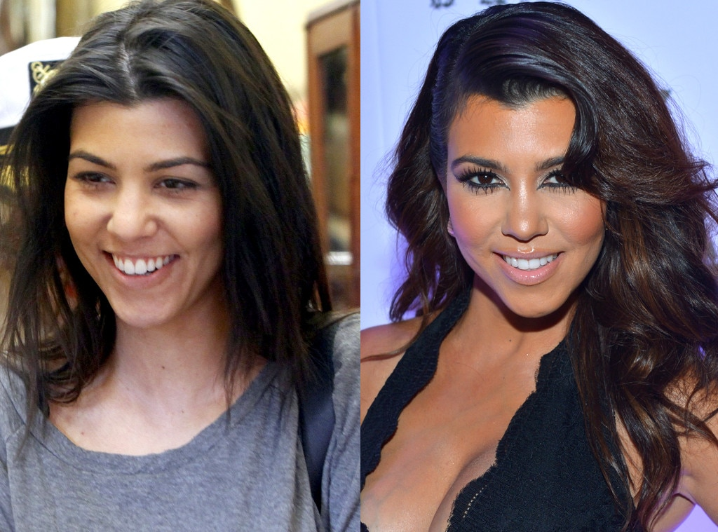 Kourtney Kardashian, No Makeup