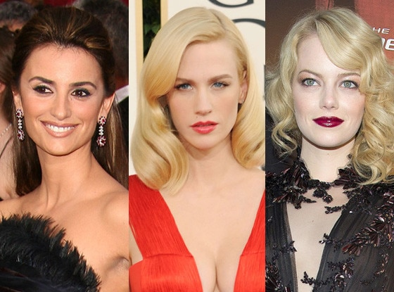 January Jones, Penelope Cruz, Emma Stone, Glam Squad