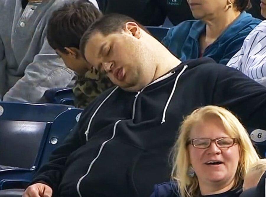 Sleeping Yankee Fan