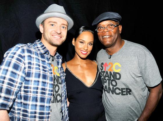 Justin Timberlake, Alicia Keys, Samuel L Jackson