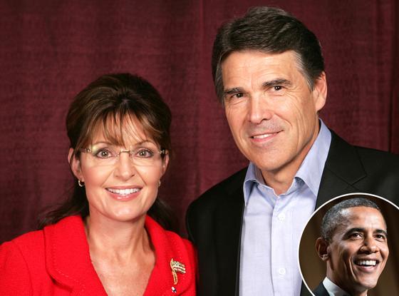 Sarah Palin, Rick Perry, Barack Obama
