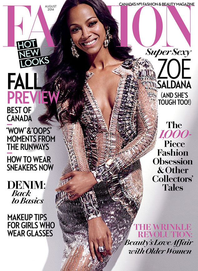Zoe Saldana, Fashion Magazine