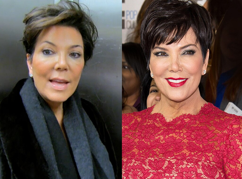 Kris Jenner, No Makeup