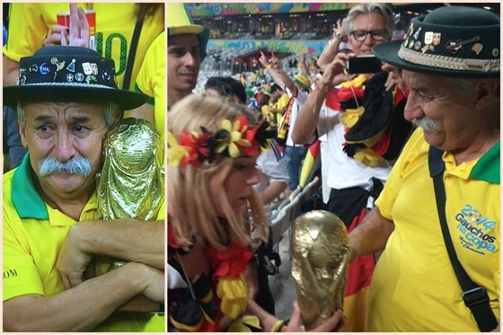 Sad Brazilian Fan, German vs. Brazil, World Cup