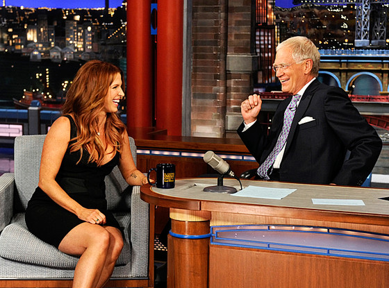Late Show with David Letterman, Poppy Montgomery