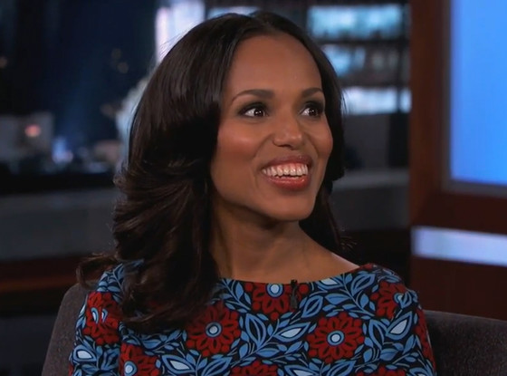 Kerry Washington, Jimmy Kimmel