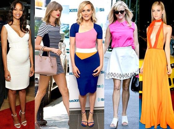 Taylor Schilling, Nicola Peltz, Zoe Saldana, Taylor Swift, Reese Witherspoon