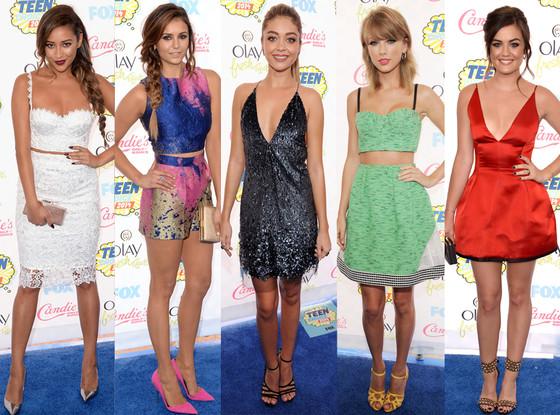 Nina Dobrev, Lucy Hale, Shay Mitchell, Sarah Hyland, Taylor Swift