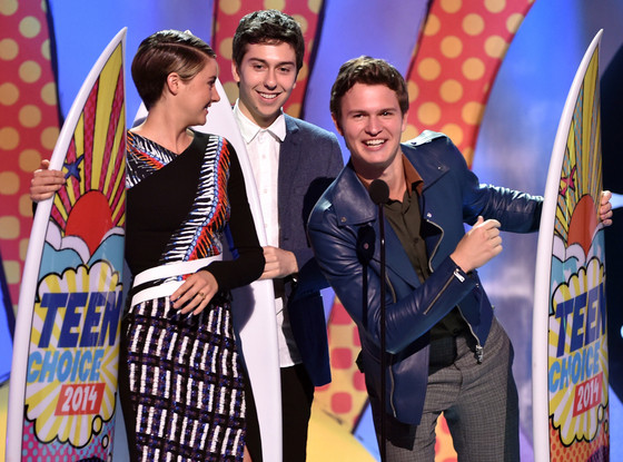 Shailene Woodley, Nat Wolff, Ansel Elgort, Teen Choice Awards