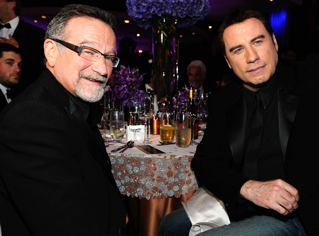 Robin Williams, John Travolta, Famous Friends