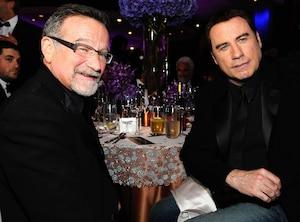 Robin Williams, John Travolta, Famous Friends