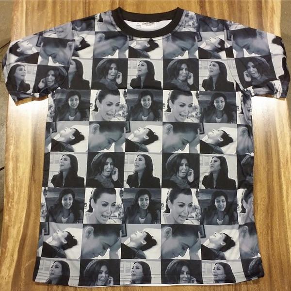 Kim Kardashian, Crying Shirt, Instagram
