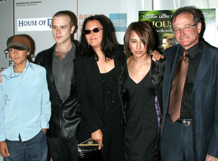 Robin Williams, daughter Zelda, wife Marcia, son Cody, son Zac