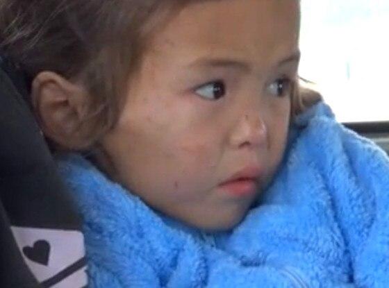Puppy Saves Little Girl, Siberia