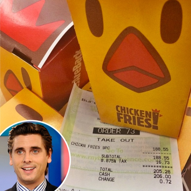 Scott Disick, Chicken Fries, Instagram