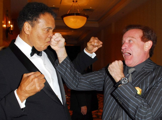 Muhammad Ali, Robin Williams, Famous Friends