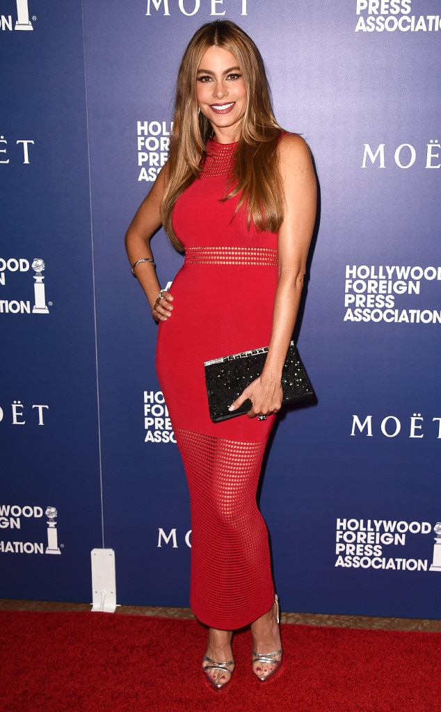 Gimme That Sof 237 A Vergara S Sexy Red Bodycon Dress E News
