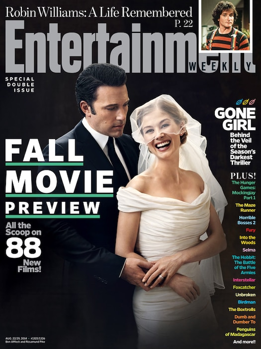 Ben Affleck, Rosamund Pike, Gone Girl, Entertainment Weekly cover