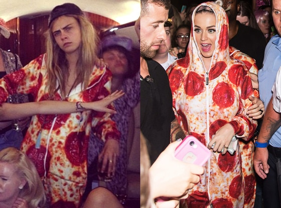 Cara Delevingne, Katy Perry, Pizza