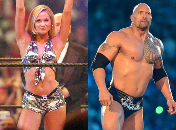 Dwayne ''The Rock'' Johnson, Celebs that started as WWE stars, Stacy Keibler