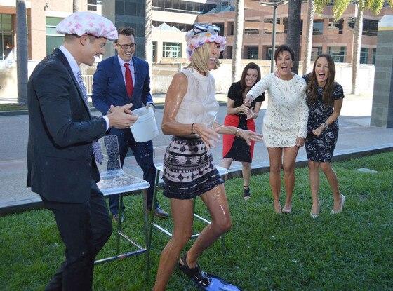 E! News Ice Bucket Challenge