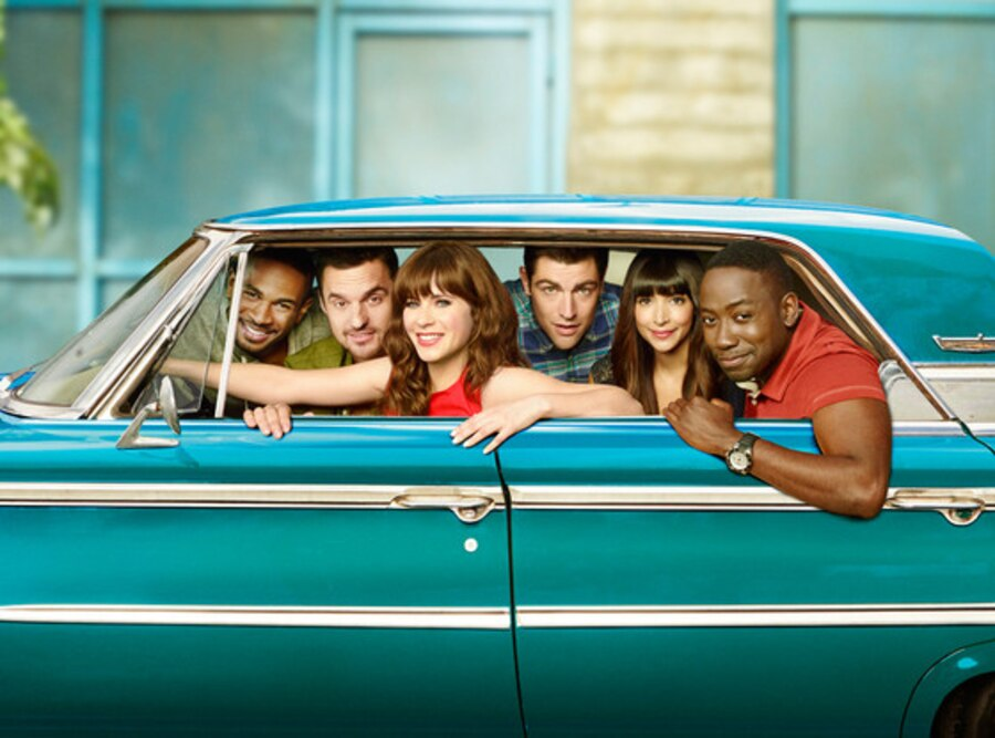 NEw Girl, Damon Wayans, Jr., Jake Johnson, Zooey Deschanel, Max Greenfield, Hannah Simone, Lamorne Morris.