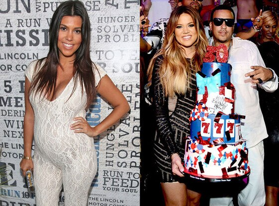 Khloe Kardashian, French Montana, Kourtney Kardashian