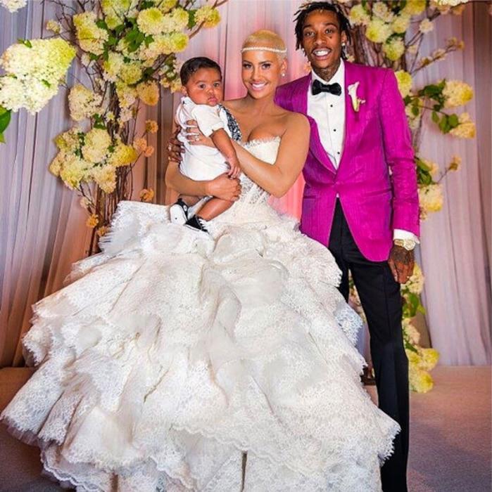 Amber Rose, Wiz Khalifa, Wedding